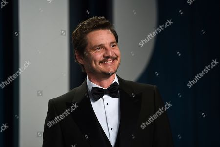 Pedro Pascal arrives at the Vanity Fair Oscar Party, in Beverly Hills, Calif
