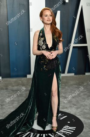 Madelaine Petsch arrives at the Vanity Fair Oscar Party, in Beverly Hills, Calif