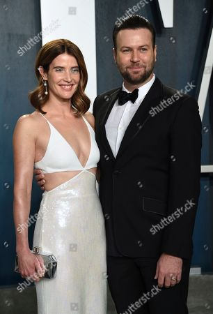 Cobie Smulders, Taran Killam. Cobie Smulders, left, and Taran Killam arrive at the Vanity Fair Oscar Party, in Beverly Hills, Calif