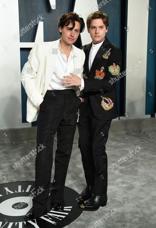 Cole Sprouse, Dylan Sprouse. Cole Sprouse, left, and Dylan Sprouse arrive at the Vanity Fair Oscar Party, in Beverly Hills, Calif