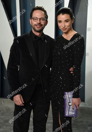 Stock Photo of Nick Kroll, Lily Kwong. Nick Kroll, left, and Lily Kwong arrive at the Vanity Fair Oscar Party, in Beverly Hills, Calif