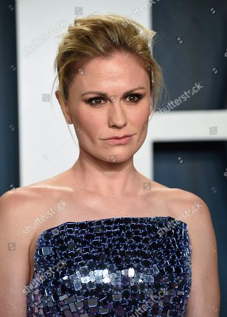 Stock Image of Anna Paquin arrives at the Vanity Fair Oscar Party, in Beverly Hills, Calif