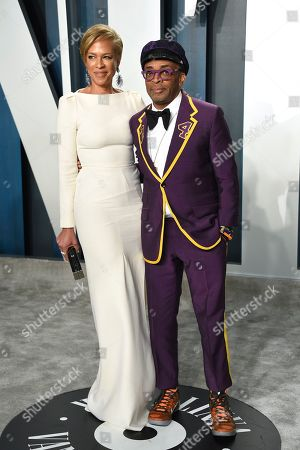 Spike Lee, Tonya Lewis Lee. Spike Lee, right, and Tonya Lewis Lee arrive at the Vanity Fair Oscar Party, in Beverly Hills, Calif