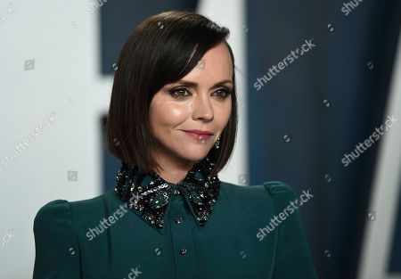 Christina Ricci arrives at the Vanity Fair Oscar Party, in Beverly Hills, Calif