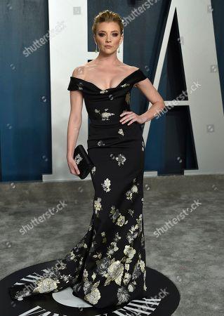 Natalie Dormer arrives at the Vanity Fair Oscar Party, in Beverly Hills, Calif