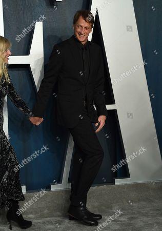 Tony Hawk arrives at the Vanity Fair Oscar Party, in Beverly Hills, Calif
