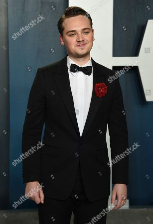 Dean-Charles Chapman arrives at the Vanity Fair Oscar Party, in Beverly Hills, Calif