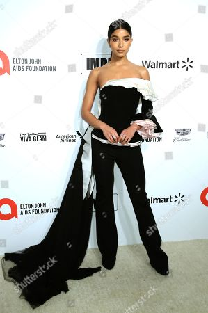 Stock Photo of Yovanna Ventura arrives at the 2020 Elton John AIDS Foundation Oscar Viewing Party, in West Hollywood, Calif