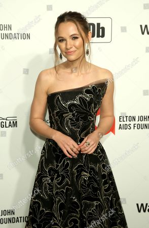 Madison Iseman arrives at the 2020 Sir Elton John AIDS Foundation Oscar Viewing Party, in West Hollywood, Calif