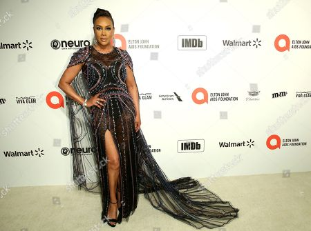 Vivica A. Fox arrives at the 2020 Sir Elton John AIDS Foundation Oscar Viewing Party, in West Hollywood, Calif