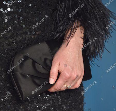 Stock Image of Sarah Paulson, bag detail, jewellery detail