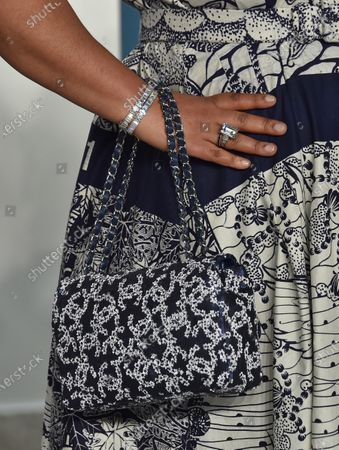 Stock Picture of Shonda Rhimes, bag detail, jewellery detail
