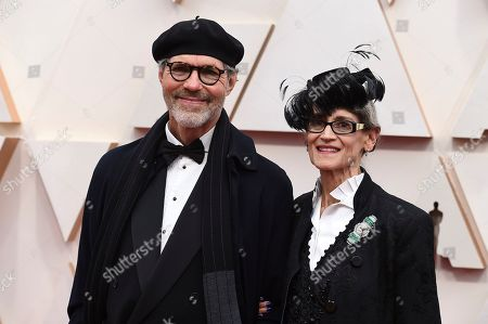 Stock Picture of Dennis Gassner, Amy Gassner. Dennis Gassner, left, and Amy Gassner arrive at the Oscars, at the Dolby Theatre in Los Angeles