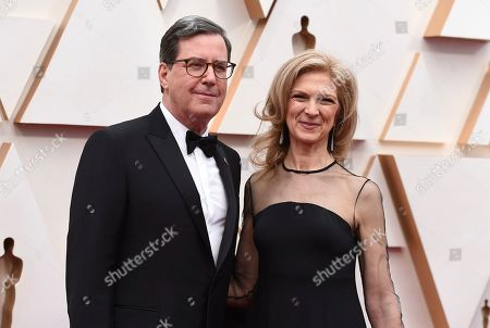 Stock Image of David Rubin, Dawn Hudson. David Rubin, President of the Academy of Motion Picture Arts and Sciences, left, and Dawn Hudson, Chief Executive Officer of the Academy of Motion Picture Arts and Sciences, arrive at the Oscars, at the Dolby Theatre in Los Angeles