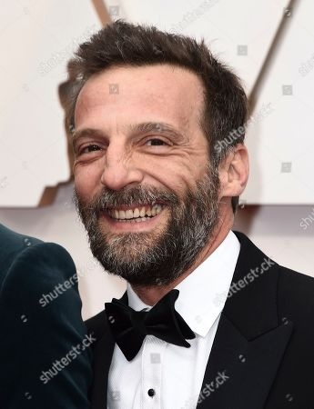 Mathieu Kassovitz arrives at the Oscars, at the Dolby Theatre in Los Angeles