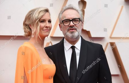 Stock Photo of Alison Balsom, Sam Mendes. Alison Balsom, left, and Sam Mendes arrive at the Oscars, at the Dolby Theatre in Los Angeles