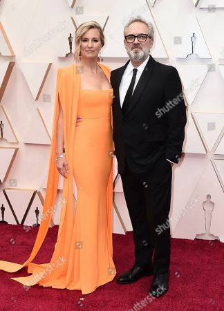 Stock Picture of Alison Balsom, Sam Mendes. Alison Balsom, left, and Sam Mendes arrive at the Oscars, at the Dolby Theatre in Los Angeles