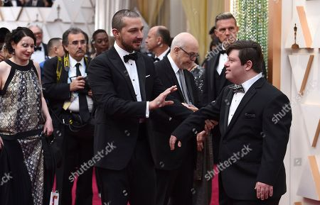 Shia LaBeouf, Zack Gottsagen. Shia LaBeouf, left, and Zack Gottsagen arrive at the Oscars, at the Dolby Theatre in Los Angeles
