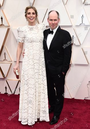 Stock Image of Rachael Tate, Oliver Tarney. Rachael Tate, left, and Oliver Tarney arrive at the Oscars, at the Dolby Theatre in Los Angeles