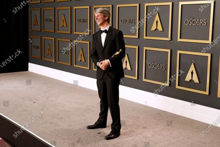 Marshall Curry poses in the press room with the Oscar for Best Live Action Short Film during the 92nd annual Academy Awards ceremony at the Dolby Theatre in Hollywood, California, USA, 09 February 2020. The Oscars are presented for outstanding individual or collective efforts in filmmaking in 24 categories.