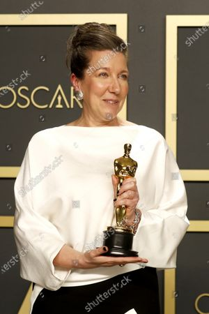 Jacqueline Durran poses in the press room with the Oscar for Costume Design for Little Women' during the 92nd annual Academy Awards ceremony at the Dolby Theatre in Hollywood, California, USA, 09 February 2020. The Oscars are presented for outstanding individual or collective efforts in filmmaking in 24 categories.