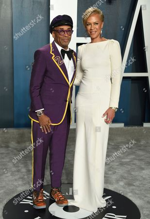 Spike Lee, Tonya Lewis Lee. Spike Lee, left, and Tonya Lewis Lee arrive at the Vanity Fair Oscar Party, in Beverly Hills, Calif