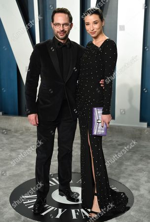 Stock Picture of Nick Kroll, Lily Kwong. Nick Kroll, left, and Lily Kwong arrive at the Vanity Fair Oscar Party, in Beverly Hills, Calif