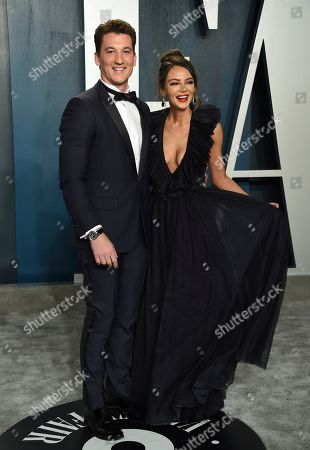 Miles Teller, Keleigh Sperry. Miles Teller, left, and Keleigh Sperry arrive at the Vanity Fair Oscar Party, in Beverly Hills, Calif