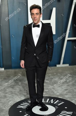 Stock Image of BJ Novak arrives at the Vanity Fair Oscar Party, in Beverly Hills, Calif