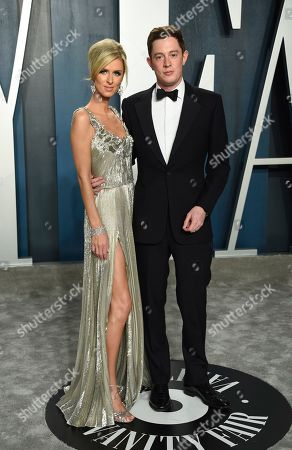 Nicky Hilton Rothschild, Jmaes Hothschild. Nicky Hilton Rothschild, left and James Rothschild arrives at the Vanity Fair Oscar Party, in Beverly Hills, Calif