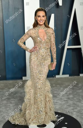 Stock Picture of Elizabeth Chambers arrives at the Vanity Fair Oscar Party, in Beverly Hills, Calif