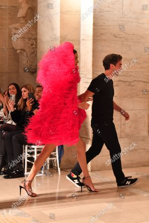 Bella Hadid and Fernando Garcia on the catwalk