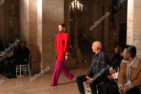 Stock Image of Cara Taylor on the catwalk
