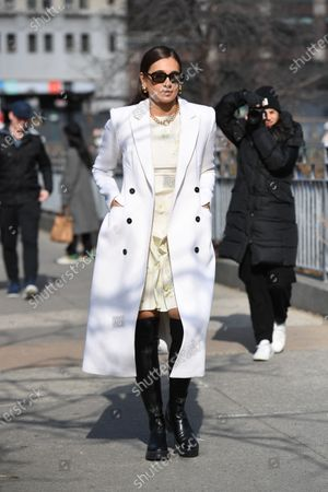 Editorial picture of Street Style, Fall Winter 2020, New York Fashion Week, USA - 09 Feb 2020