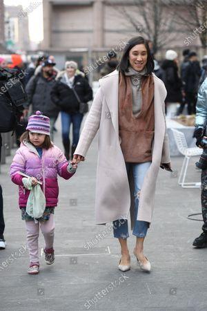Eva Chen and daughter Ren