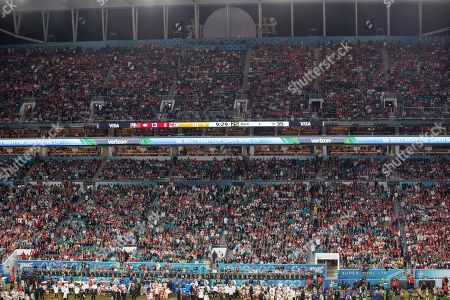 During the NFL Super Bowl 54 football game between the San Francisco 49ers and Kansas City Chiefs, in Miami Gardens, Fla. The Kansas City Chiefs won 31-20
