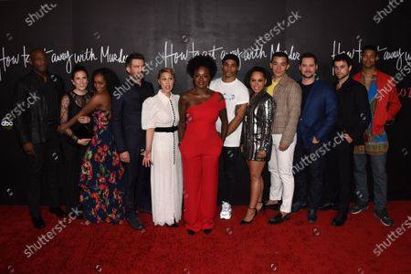 Stock Photo of Billy Brown, Aja Naomi King, Charlie Weber, Liza Weil, Viola Davis, Pete Nowalk, Alfred Enoch, Amirah Vann, Conrad Ricamora, Matt McGorry, Jack Falahee, Alfred Enoch