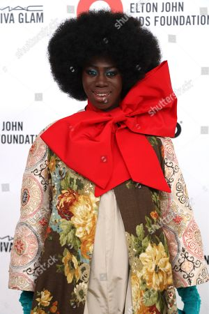 Miss Jay Alexander arrives at the 2020 Elton John AIDS Foundation Oscar Viewing Party, in West Hollywood, Calif