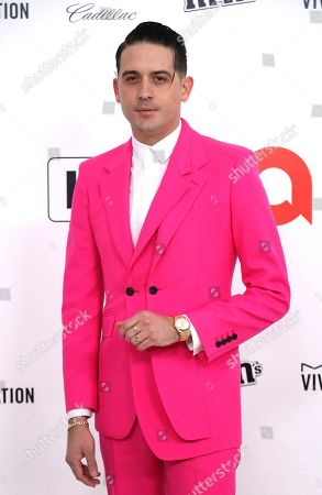 Stock Photo of G-Eazy arrives at the 2020 Elton John AIDS Foundation Oscar Viewing Party, in West Hollywood, Calif