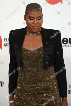 EJ Johnson arrives at the 2020 Elton John AIDS Foundation Oscar Viewing Party, in West Hollywood, Calif
