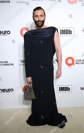 Stock Photo of Jonathan Van Ness arrives at the 2020 Elton John AIDS Foundation Oscar Viewing Party, in West Hollywood, Calif