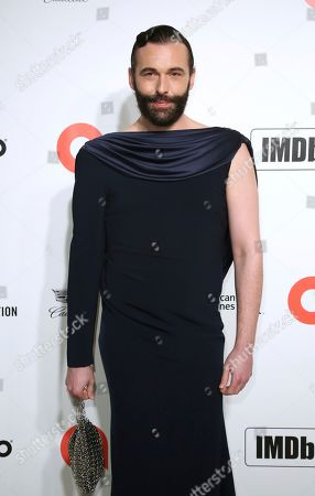 Stock Picture of Jonathan Van Ness arrives at the 2020 Elton John AIDS Foundation Oscar Viewing Party, in West Hollywood, Calif