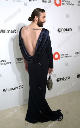 Stock Image of Jonathan Van Ness arrives at the 2020 Elton John AIDS Foundation Oscar Viewing Party, in West Hollywood, Calif