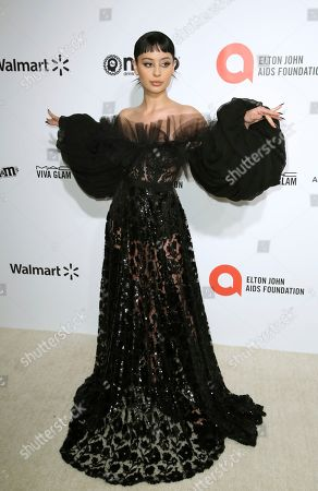 Alexa Demie arrives at the 2020 Elton John AIDS Foundation Oscar Viewing Party, in West Hollywood, Calif