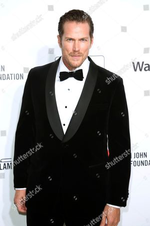 Jason Lewis arrives at the 2020 Elton John AIDS Foundation Oscar Viewing Party, in West Hollywood, Calif