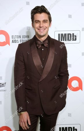 Antoni Porowski arrives at the 2020 Elton John AIDS Foundation Oscar Viewing Party, in West Hollywood, Calif