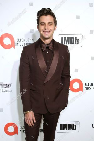 Stock Image of Antoni Porowski arrives at the 2020 Elton John AIDS Foundation Oscar Viewing Party, in West Hollywood, Calif