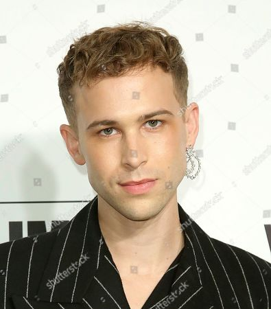 Tommy Dorfman arrives at the 2020 Elton John AIDS Foundation Oscar Viewing Party, in West Hollywood, Calif