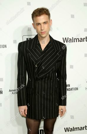 Stock Picture of Tommy Dorfman arrives at the 2020 Elton John AIDS Foundation Oscar Viewing Party, in West Hollywood, Calif