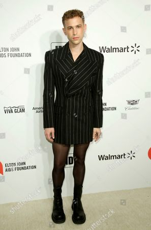 Stock Image of Tommy Dorfman arrives at the 2020 Elton John AIDS Foundation Oscar Viewing Party, in West Hollywood, Calif